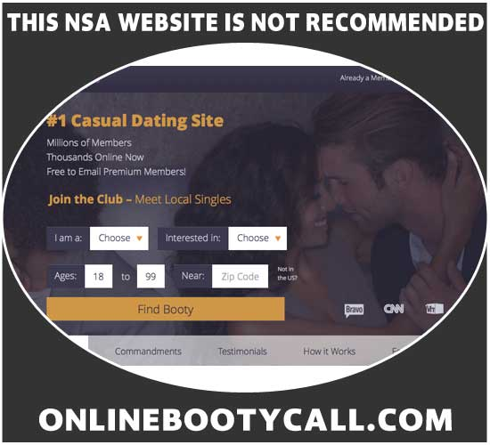 OnlineBootyCall.com homepage