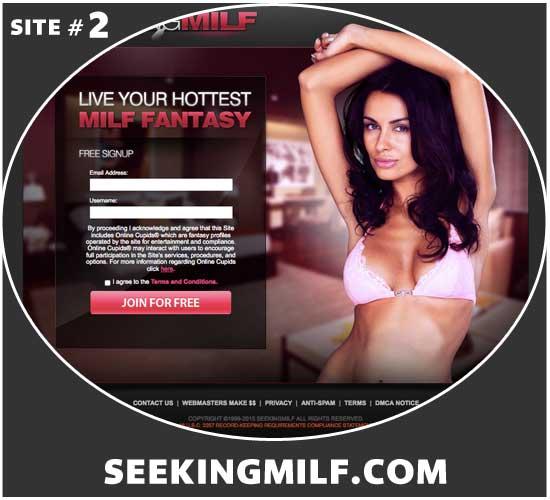 SeekingMilf.com homepage